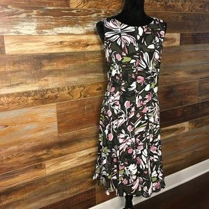 NWT Pleated Flare Botton Dress